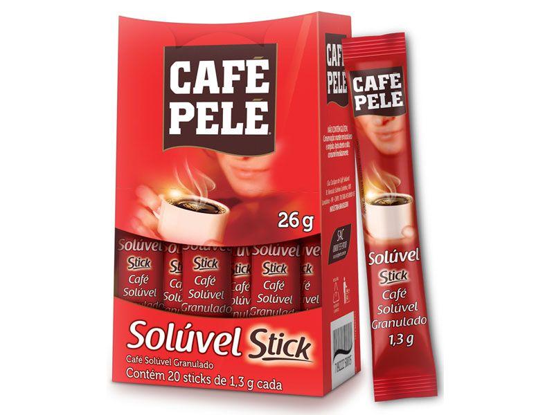 CAFÉ SOLÚVEL PELÉ SACHÊ 1,3G CAIXA 20 UNIDADES