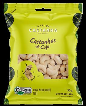 CASTANHA DE CAJU A TAL DA CASTANHA SACHÊ 50G