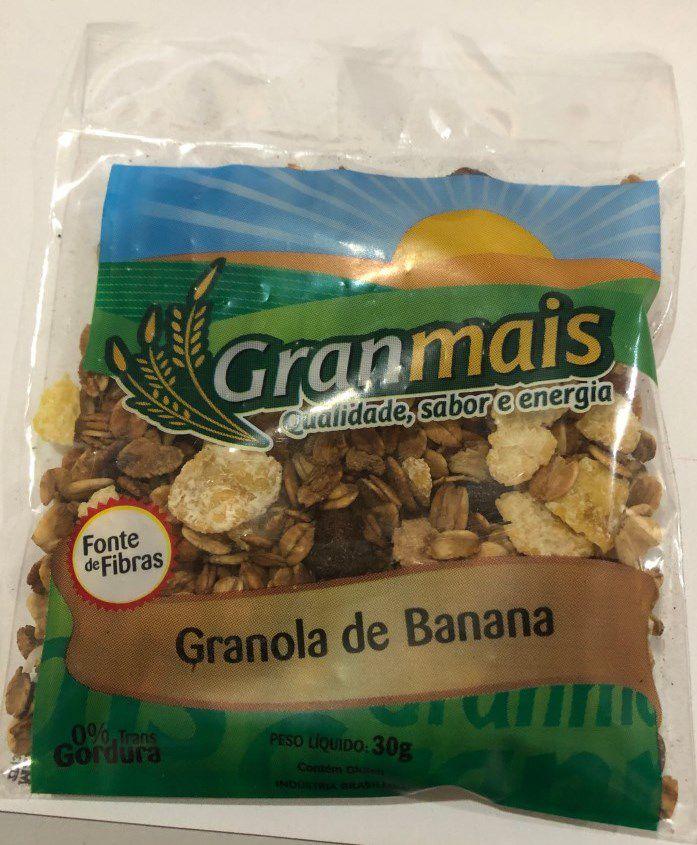 CEREAL GRANOLA BANANA GRANMAIS 30G CAIXA COM 100 UNIDADES