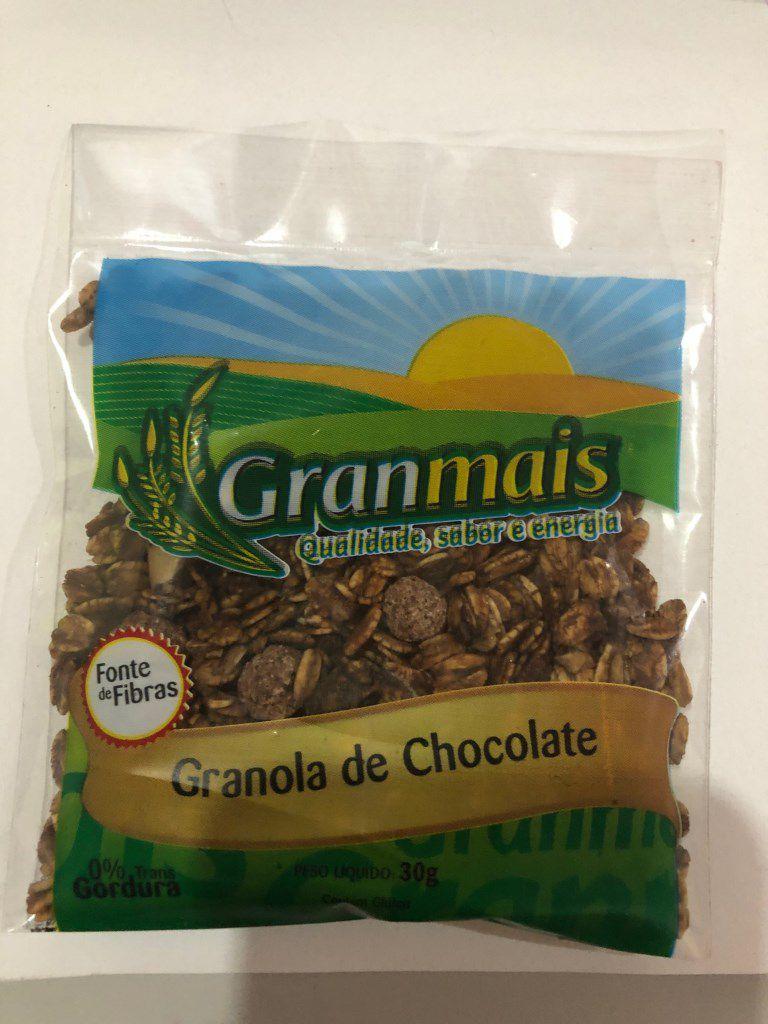 CEREAL GRANOLA CHOCOLATE GRANMAIS 30G CAIXA 100 UNIDADES