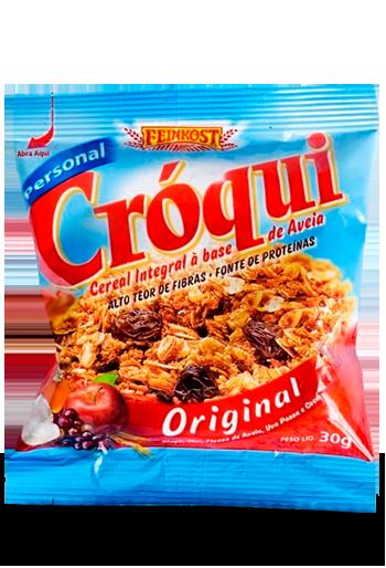 CEREAL GRANOLA ORIGINAL CROQUI 30G CAIXA 50 UNIDADES