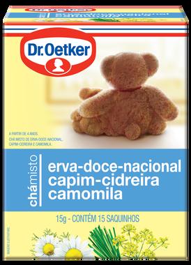 CHÁ ERVA DOCE / CIDREIRA / CAMOMILA DR OETKER SACHÊ 10G CAIXA 10 UNIDADES