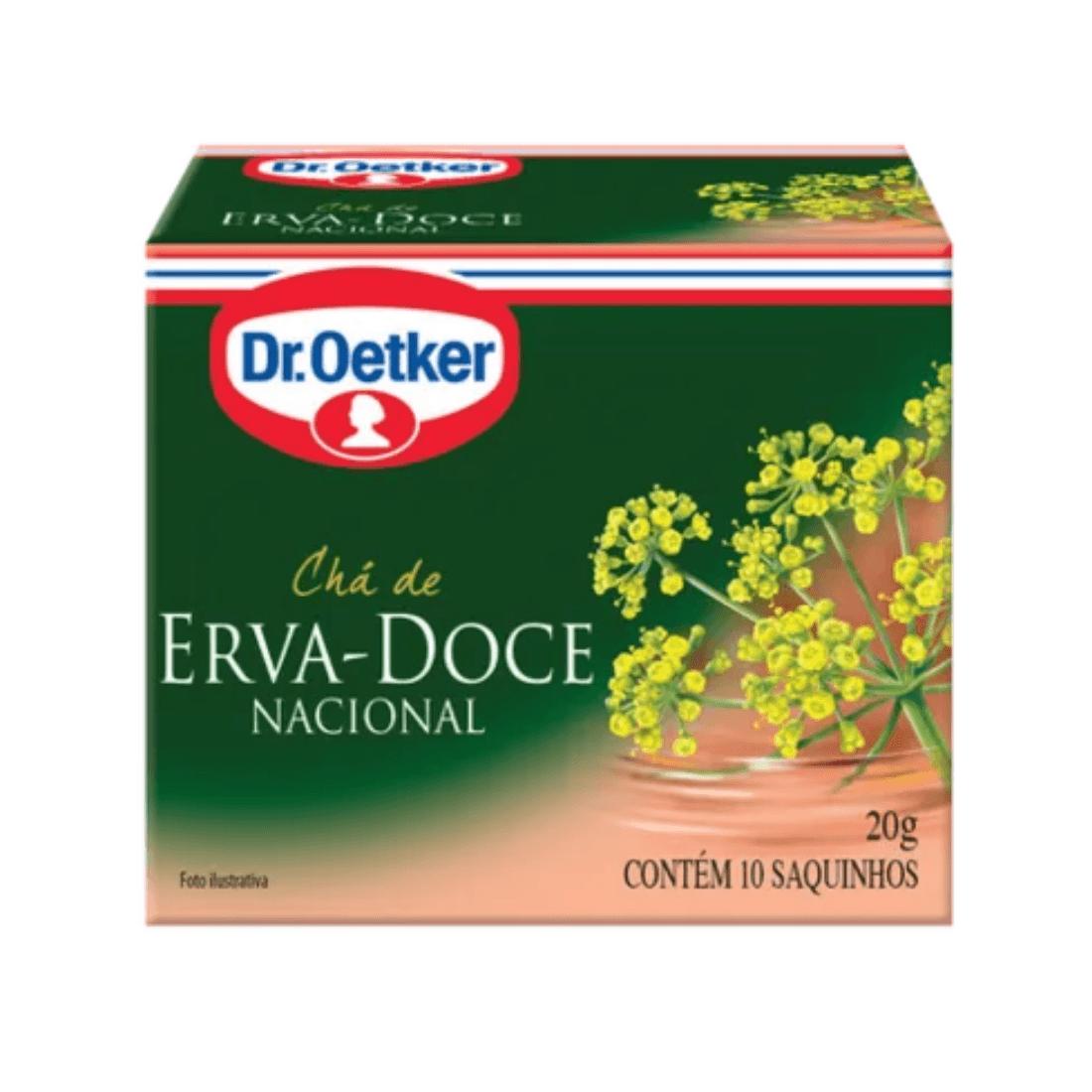 CHÁ ERVA DOCE DR OETKER SACHÊ 30G CAIXA 15 UNIDADES