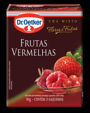 CHÁ FRUTAS VERMELHAS DR OETKER SACHÊ 10G CAIXA 15 UNIDADES