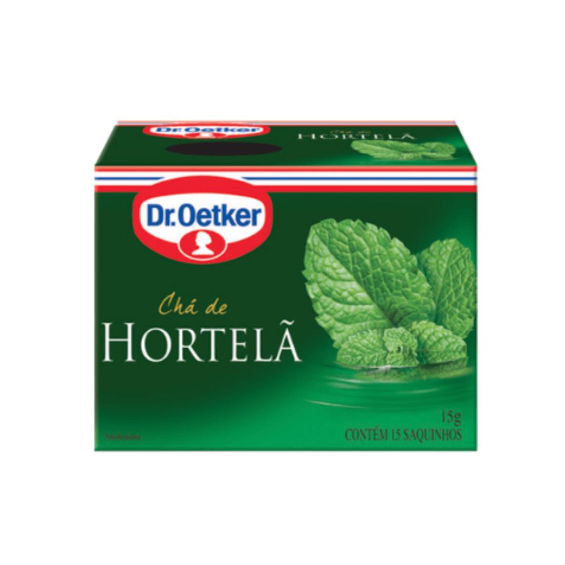 CHÁ HORTELÃ DR OETKER SACHÊ 15G CAIXA 15 UNIDADES