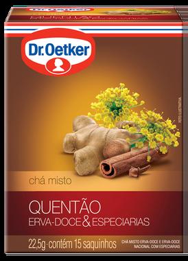 CHÁ QUENTÃO DR OETKER SACHÊ 10G CAIXA 15 UNIDADES