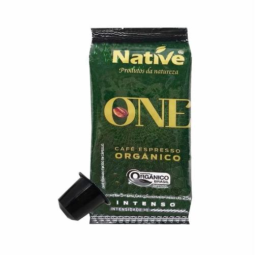 CAFÉ ORGÂNICO ESPRESSO INTENSO NATIVE CÁPSULA 5 UNIDADES