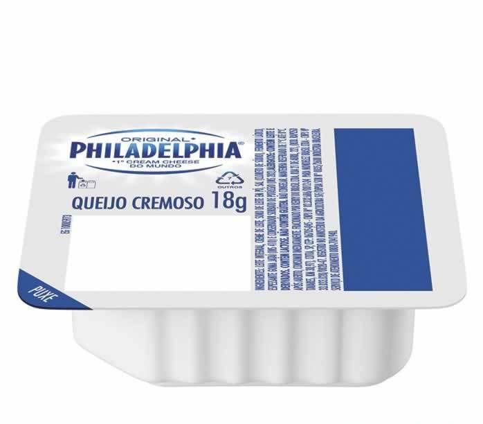 CREAM CHEESE PHILADELPHIA BLISTER 18G CAIXA 144 UNIDADES