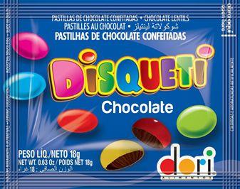 DISQUETI CHOCOLATE DORI SACHÊ 18G DISPLAY 24 UNIDADES