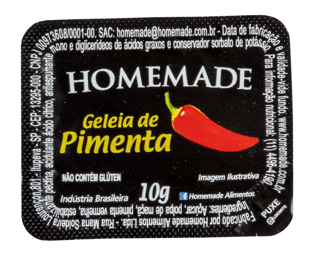 GELEIA DE PIMENTA HOMEMADE BLISTER 10G 144UN