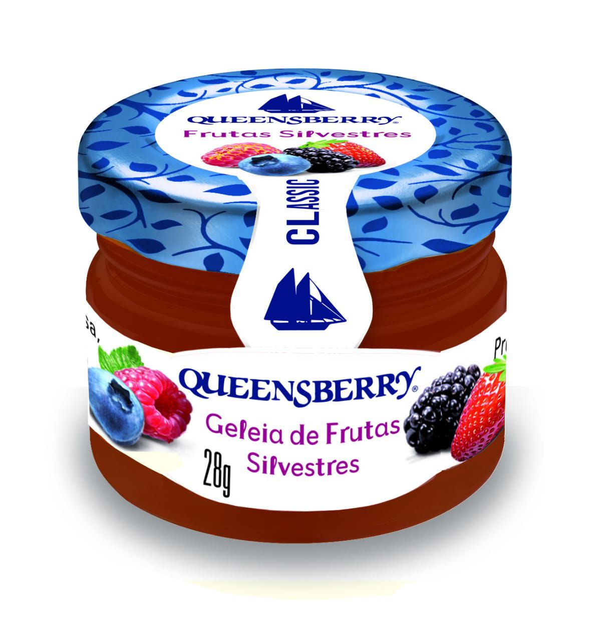 GELEIA FRUTAS SILVESTRES QUEENSBERRY MINI POTE 28G