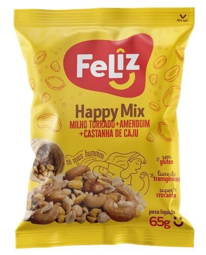 HAPPY MIX FELIZ UNIAGRO SACHÊ 65G