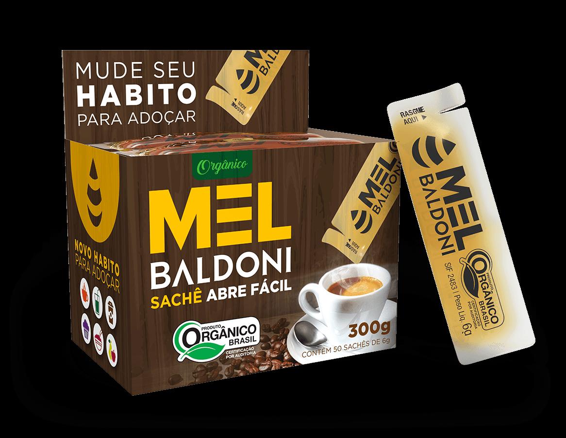 MEL ORGÂNICO BALDONI SACHÊ 6G CAIXA 50 UNIDADES