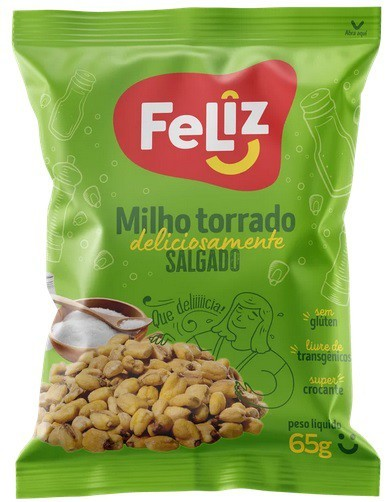 MILHO TORRADO E SALGADO UNIAGRO SACHÊ 65G