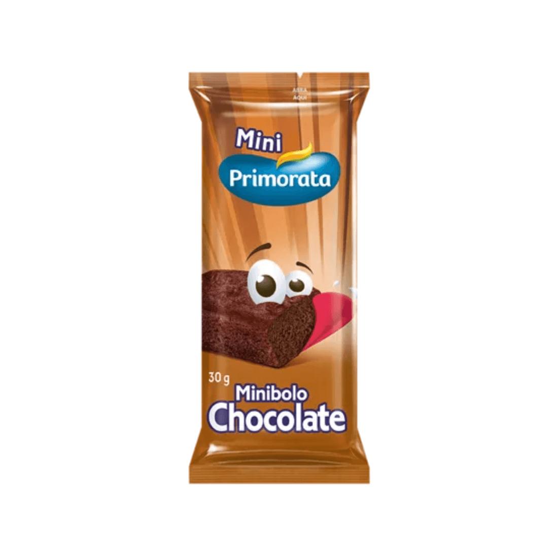 MINI BOLO CHOCOLATE PRIMORATA 30G CAIXA 18 UNIDADES