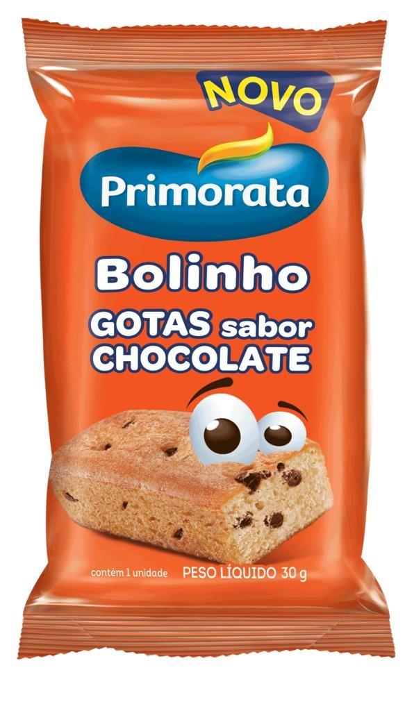 MINI BOLO GOTAS DE CHOCOLATE PRIMORATA 30G CAIXA 18 UNIDADES