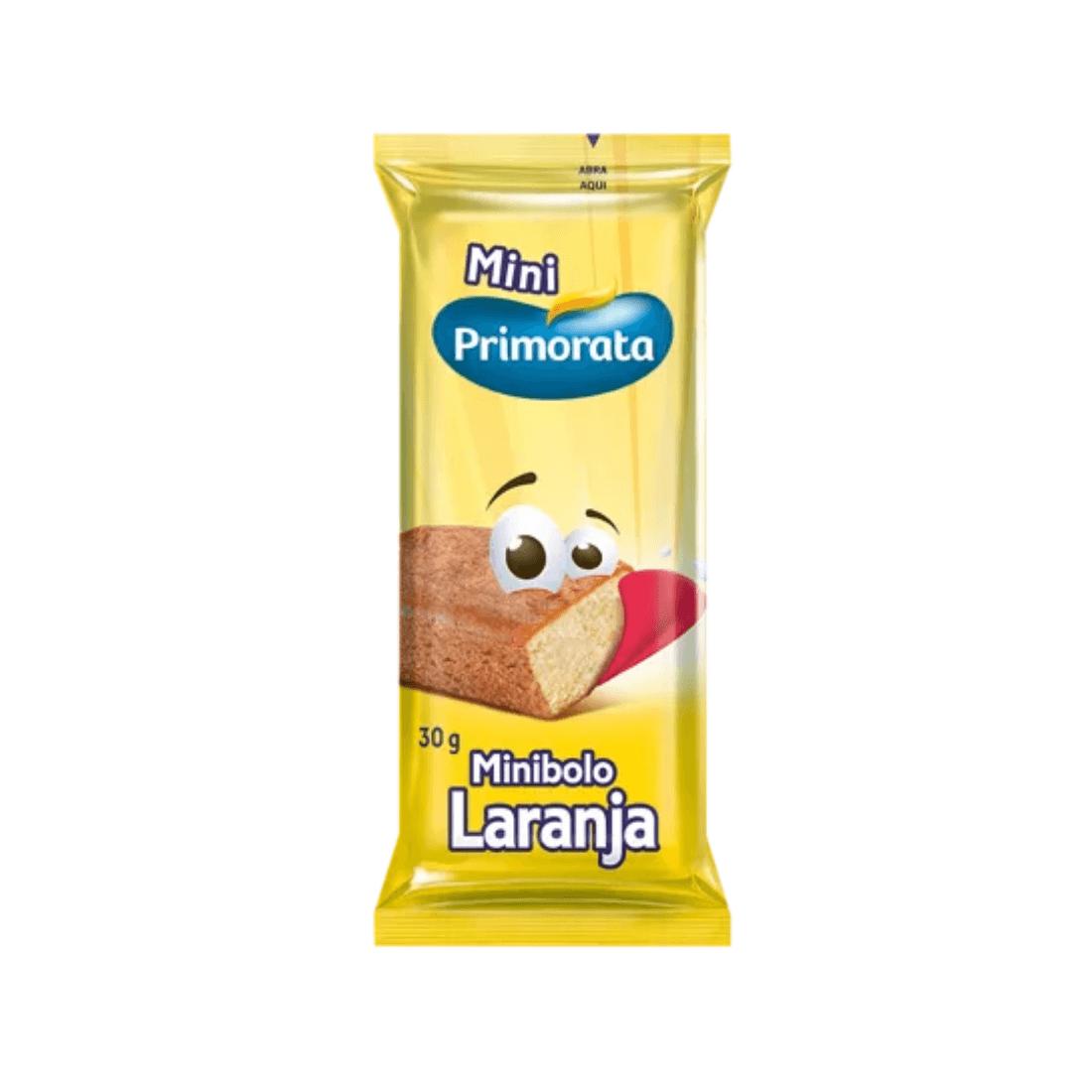 MINI BOLO LARANJA PRIMORATA 30G CAIXA 18 UNIDADES