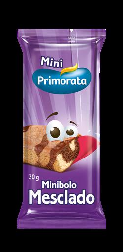 MINI BOLO MESCLADO PRIMORATA 30G CAIXA 18 UNIDADES