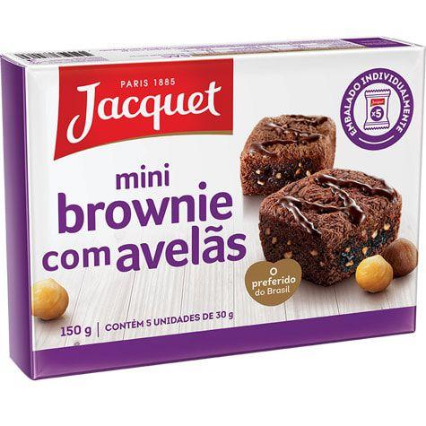 MINI BROWNIE AVELÃ JACQUET 30G CAIXA 5 UNIDADES