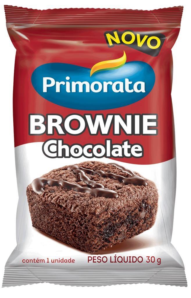 MINI BROWNIE CHOCOLATE PRIMORATA 30G CAIXA 18 UNIDADES