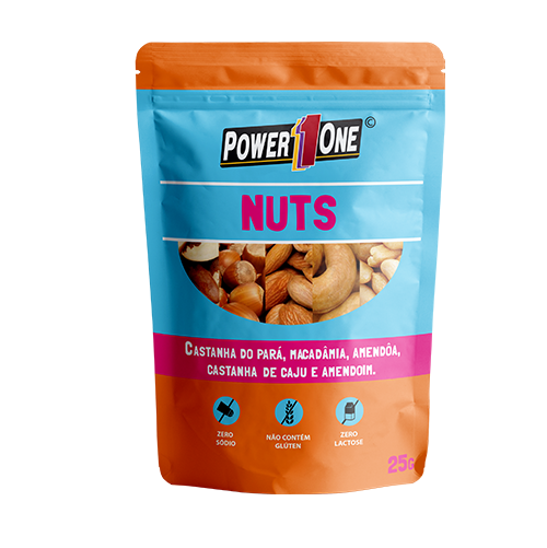 MIX NUTS POWER ONE SACHÊ 25G CAIXA 15 UNIDADES