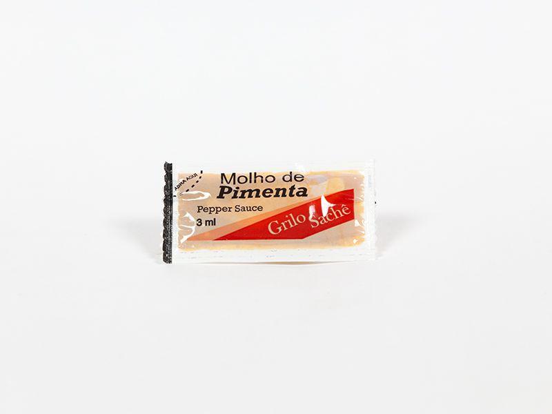 MOLHO DE PIMENTA GRILO SACHÊ 3ML CAIXA 200 UNIDADES