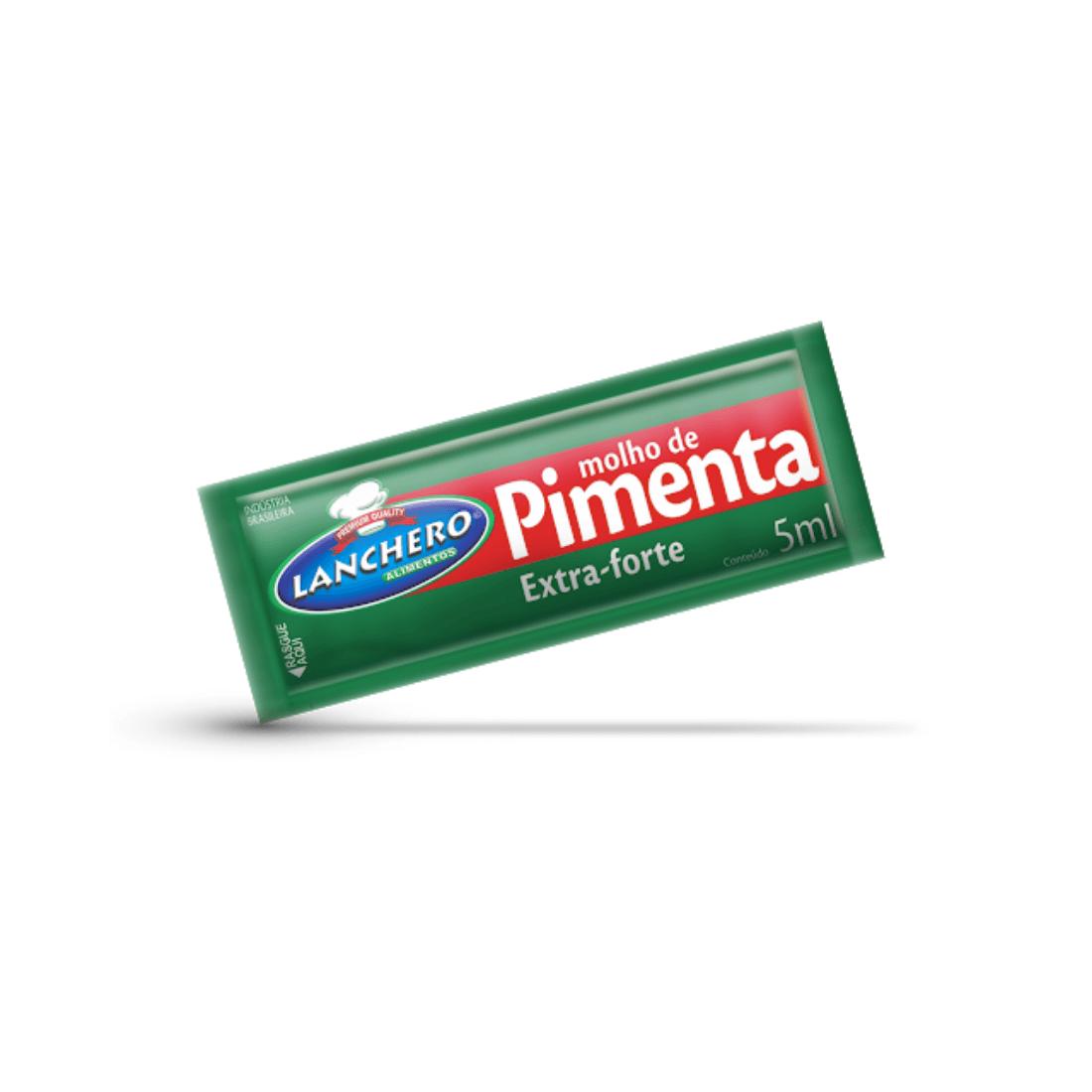 MOLHO DE PIMENTA LANCHERO SACHÊ 5ML CAIXA 190 UNIDADES