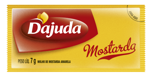 MOSTARDA D´AJUDA SACHÊ 7G CAIXA 192 UNIDADES