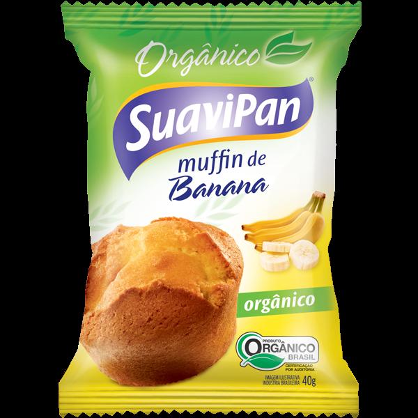 MUFFIN DE BANANA ORGÂNICO SUAVIPAN 40G 12 UNIDADES