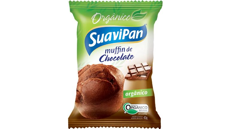 MUFFIN DE CHOCOLATE ORGÂNICO SUAVIPAN 40G 12 UNIDADES