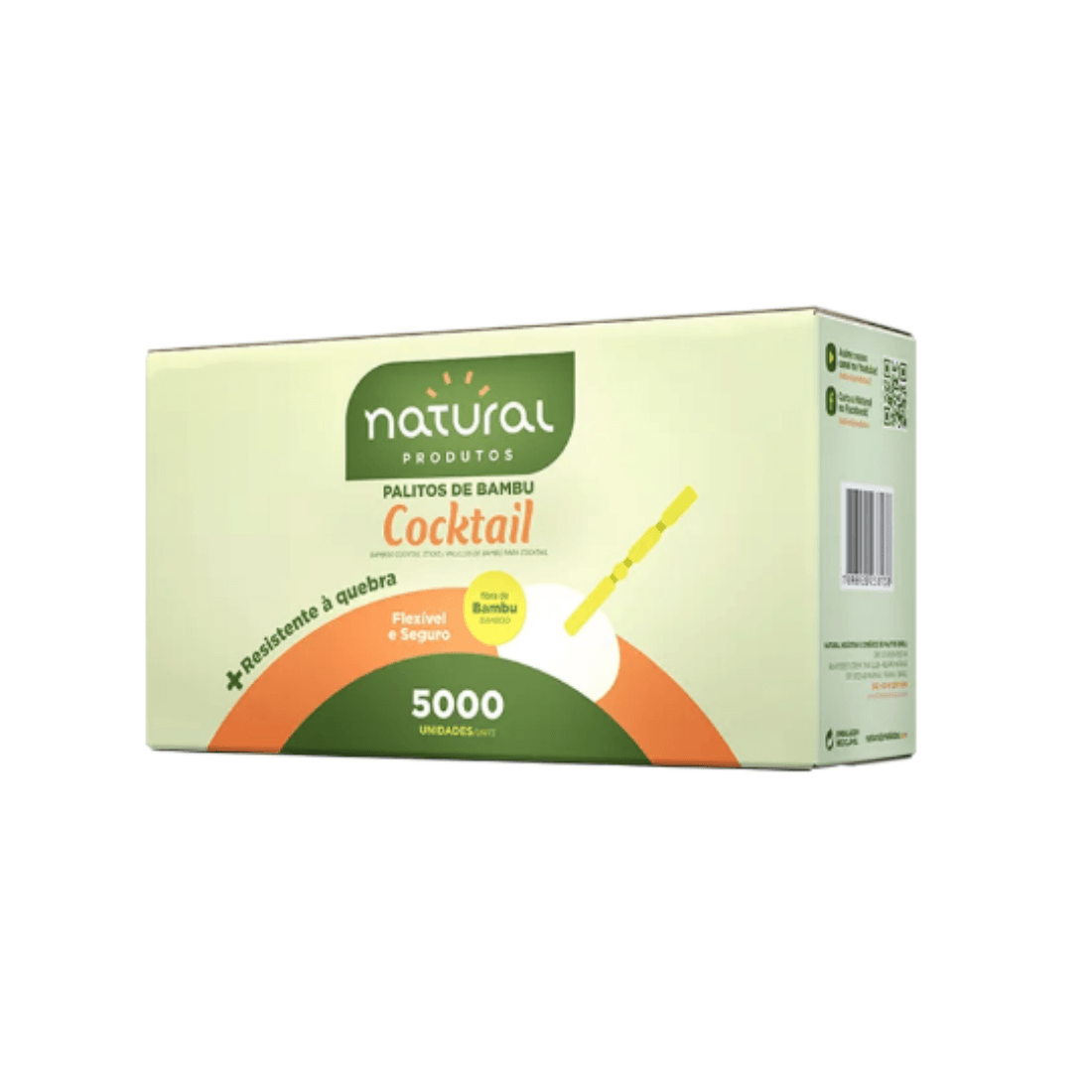 PALITO COCKTAIL BAMBU NATURAL CAIXA 5000 UNIDADES