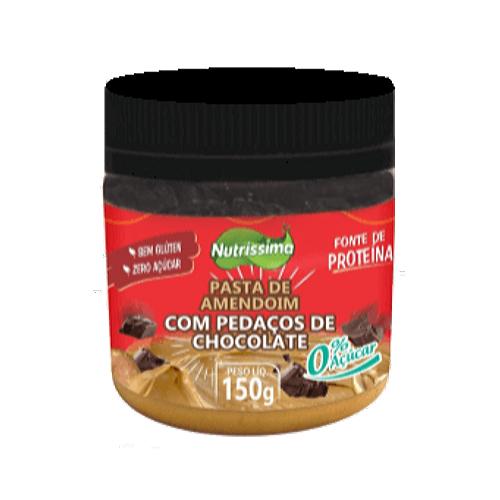 Pasta De Amendoim Com Chocolate Nutrissima Zero Açúcar 150g