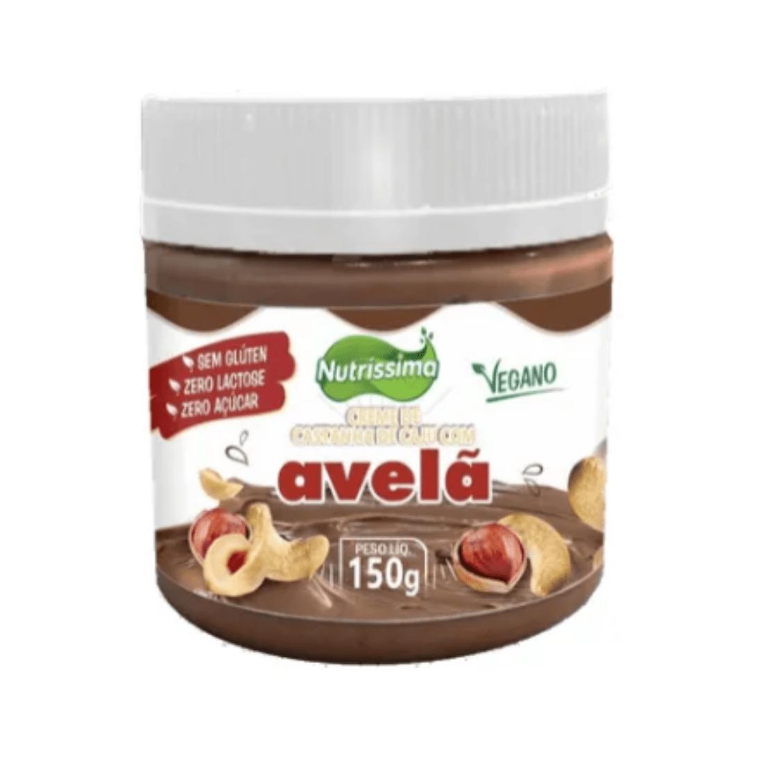 Pasta De Castanha de Caju Com Avelã e Cacau Nutrissima Premium Zero Açúcar 150g