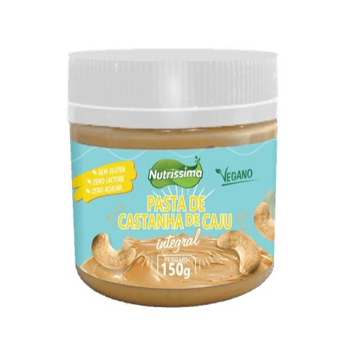 Pasta De Castanha de Caju Integral Nutrissima Premium Zero Açúcar 150g