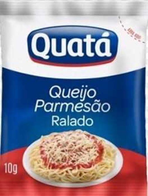 QUEIJO PARMESÃO RALADO QUATÁ SACHÊ 10G CAIXA 100 UNIDADES