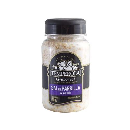 Sal de Parrilla Churrasco Entrefino Com Alho Temperola Gourmet 600g