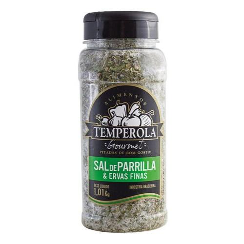 Sal de Parrilla Churrasco Entrefino Com Ervas Finas Temperola Gourmet 1Kg