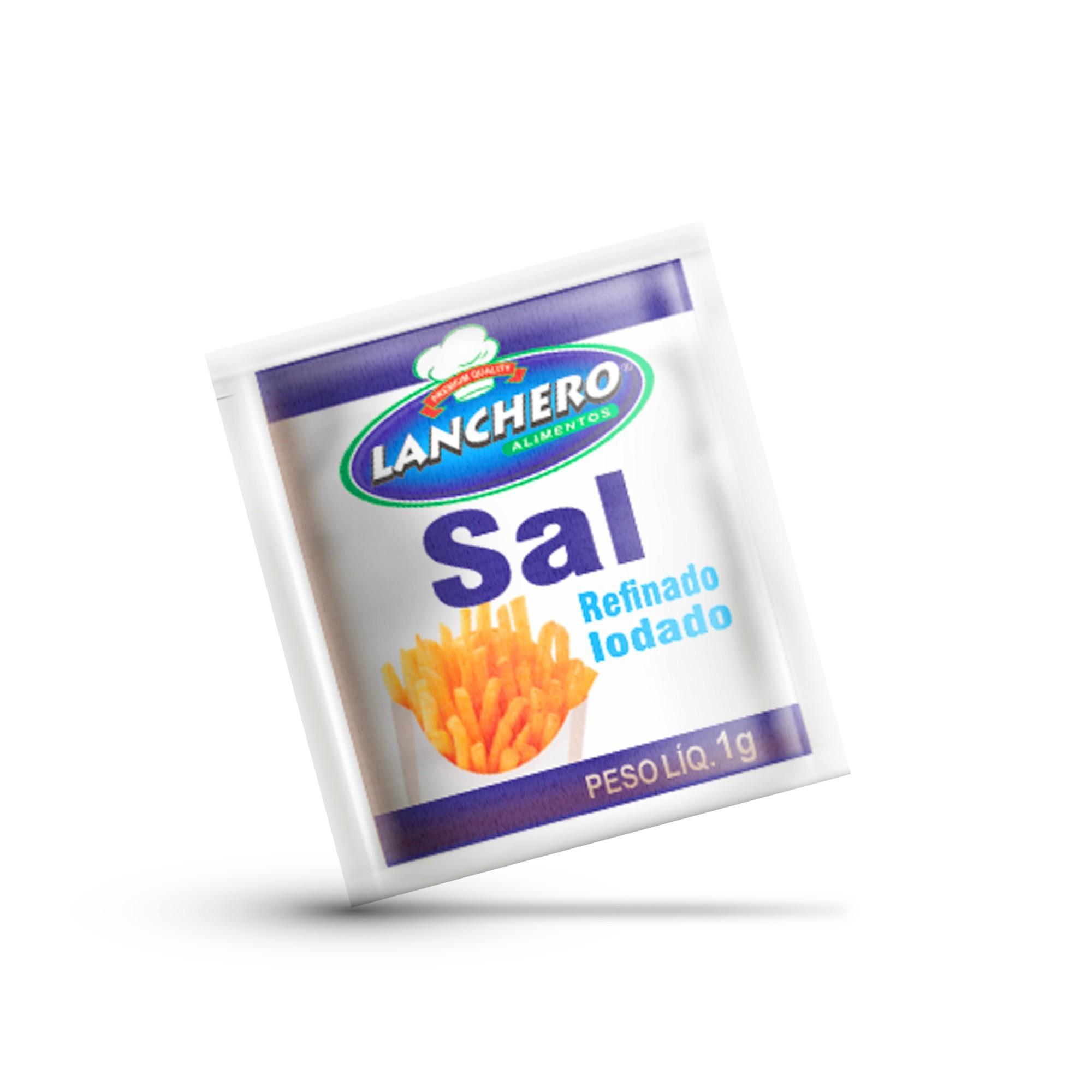 SAL LANCHERO SACHÊ 1G CAIXA 1.000 UNIDADES