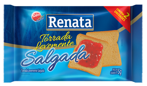 TORRADA TRADICIONAL RENATA SACHÊ 15G CAIXA 100 UNIDADES