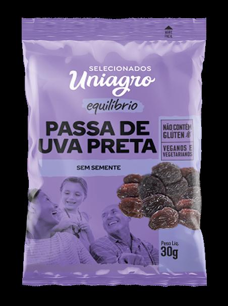 UVA PASSA ESCURA APERITIVO UNIAGRO SACHÊ 30G