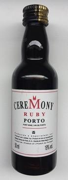 VINHO CEREMONY RUBY MINI GARRAFA 50ML
