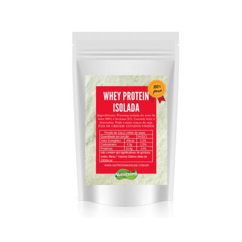Whey Protein Isolada Premium Sem Sabor Nutrissima 200g