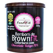 AMOR EM LATA - BROWNFIT COM COBERTURA DE CHOCOLATE BELGA 70% - 300G - FOOD4FIT