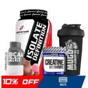 COMBO ISOLATE DEFINITION + BCAA + CREATINA + COQUETELEIRA