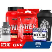 COMBO NUTRI WHEY POTE + NUTRI WHEY REFIL + BCAA + CREATINA + COQUETELEIRA SIMPLES
