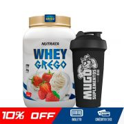 COMBO WHEY GREGO 900G + COQUETELEIRA SIMPLES