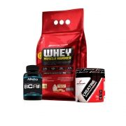 KIT DO MONSTRO - WHEY MUSCLE HAMMER + BCAA 60 CAPS + CREATINA