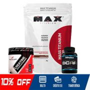 KIT GANHO BRUTO - MASSA MAX + CREATINA 70G + BCAA 60 CAPS