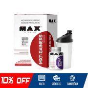 KIT MAX GAINER - MXT GAINERS + BCAA MAX + COQUETELEIRA (BRINDE)