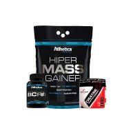 KIT MUTANTE - MASSA ATHLETICA +  BCAA 60 CAPS + CREATINA 70G